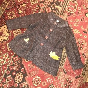 EUC^Black lurex swing cropped cardigan
